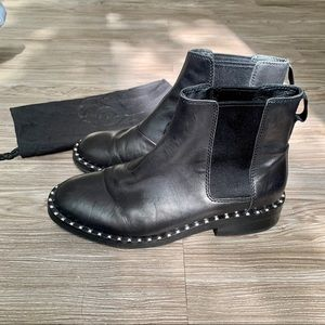 ASH Black Chelsea Studded Boots